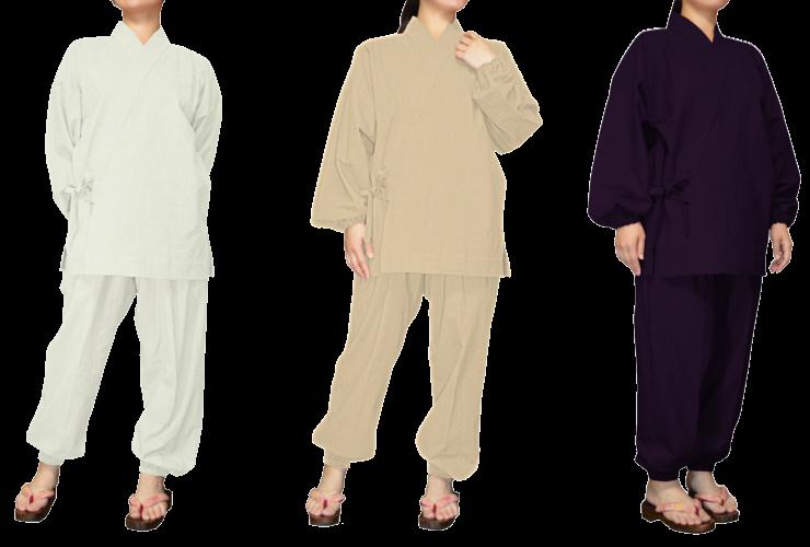 ムラ糸モーリーハンドワッシャー 白/生成り/パープル